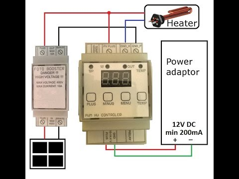 PWM MPPT Heater Charger Regulator Solar Photovoltaic Solar Panels Hot Water PV