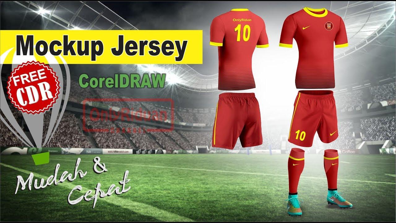 Download Desain Jersey Bola dengan Mockup Jersey di CorelDRAW ...
