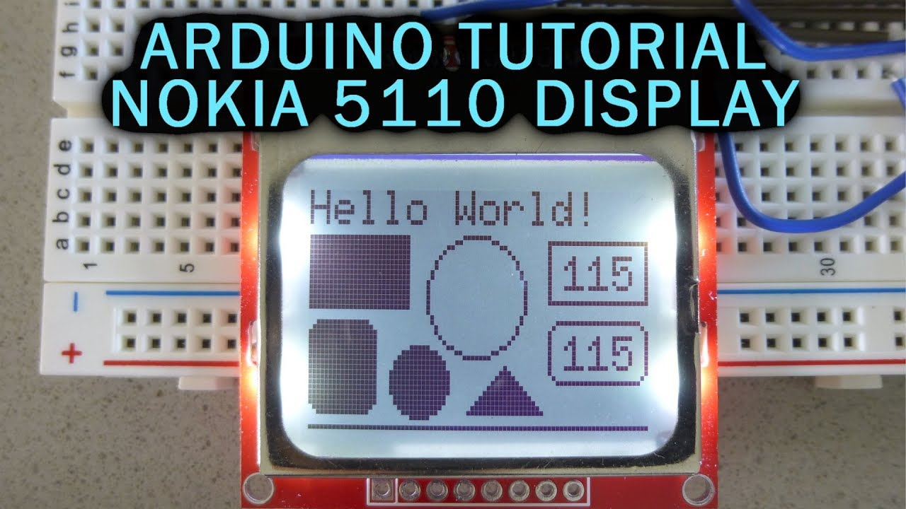 Arduino Tutorial: LCD Nokia 5110 Display