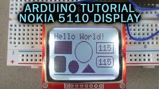Arduino Tutorial: LCD Nokia 5110 Display