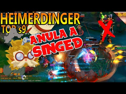 | HEIMERDINGER TOP S9 | ACABA CON EL PROXYFARM | VS SINGED | LEAGUE OF LEGENDS GAMEPLAY ESPAÑOL | thumbnail