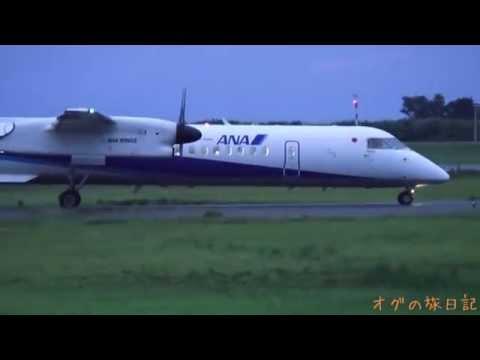 新潟空港(KIJ) - 中部(NGO) 、成田空港(NRT) - 新潟(KIJ) ANA ボンバルディア DHC-8-Q400