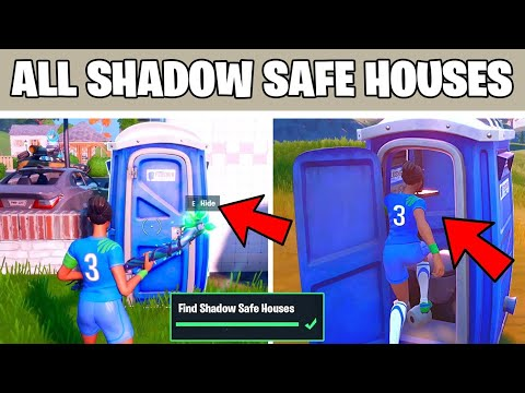 Find Shadow Safe Houses All Locations Guide Fortnite Chapter 2 Season 2 Challenge Youtube