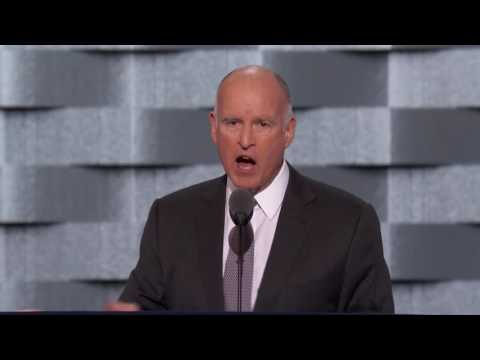Gov Jerry Brown at DNC 2016