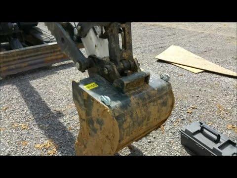 Welding Chain Hooks On Bobcat E42 Excavator Bucket. 7014 Welding Rods