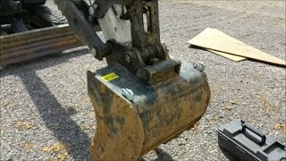 welding chain hooks on bobcat e42 excavator bucket 7014 welding rods
