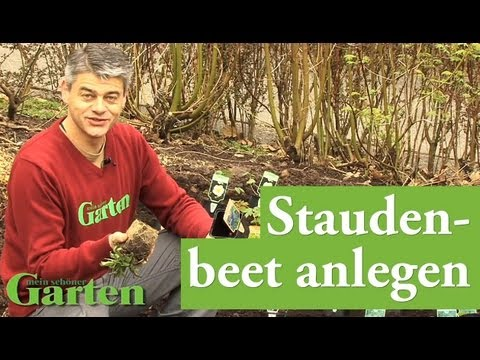 Staudenbeet anlegen - YouTube