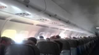 Видео из самолета Когалымавиа разбившегося в Египте 31 10 2015
