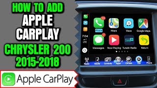 Chrysler 200 Apple CarPlay, 2015-2018 Chrysler 200 Uconnect 8.4 Apple CarPlay Android Auto Upgrade