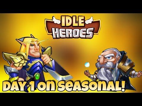 Idle Heroes - Seasonal - Day 1 Info, Tips and Progress