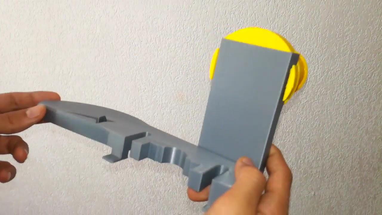 support de bobine de filament sp cial imprimante discovery 200 youtube. Black Bedroom Furniture Sets. Home Design Ideas