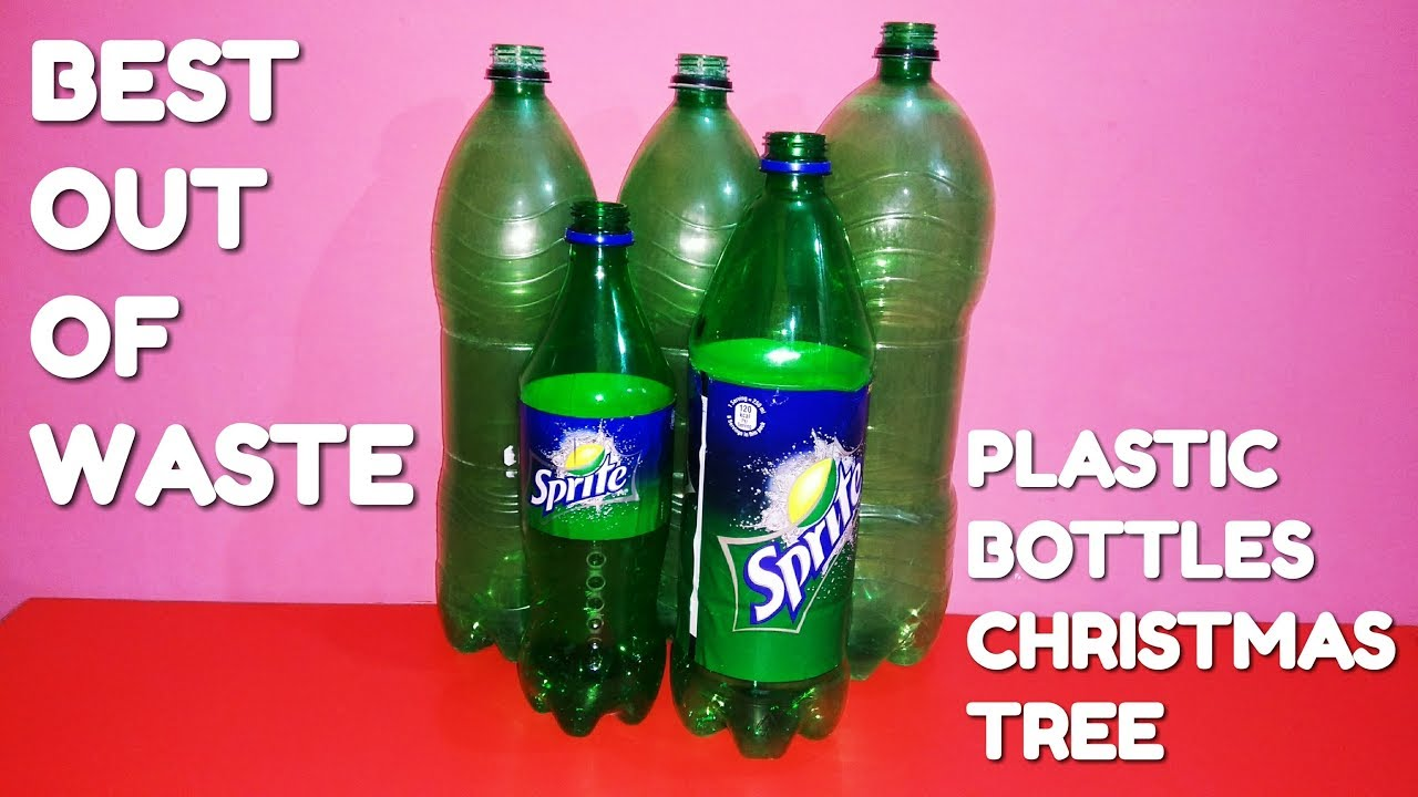 How To Make Plastic Bottles Into A Christmas Tree