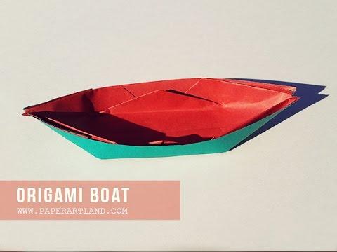 How To Make A Origami Paper Sampan Boat