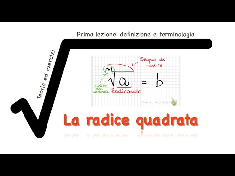 La Radice Quadrata - Prima Lezione