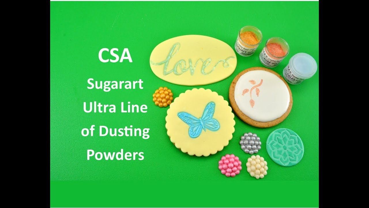 Csa Sugarart Ultra Dusting Powders How To Use Them With Chef Nicholas Lodge