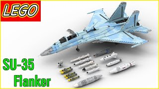 Lego Sukhoi SU-27 / SU-35 Flanker | Minifig Scale 2017