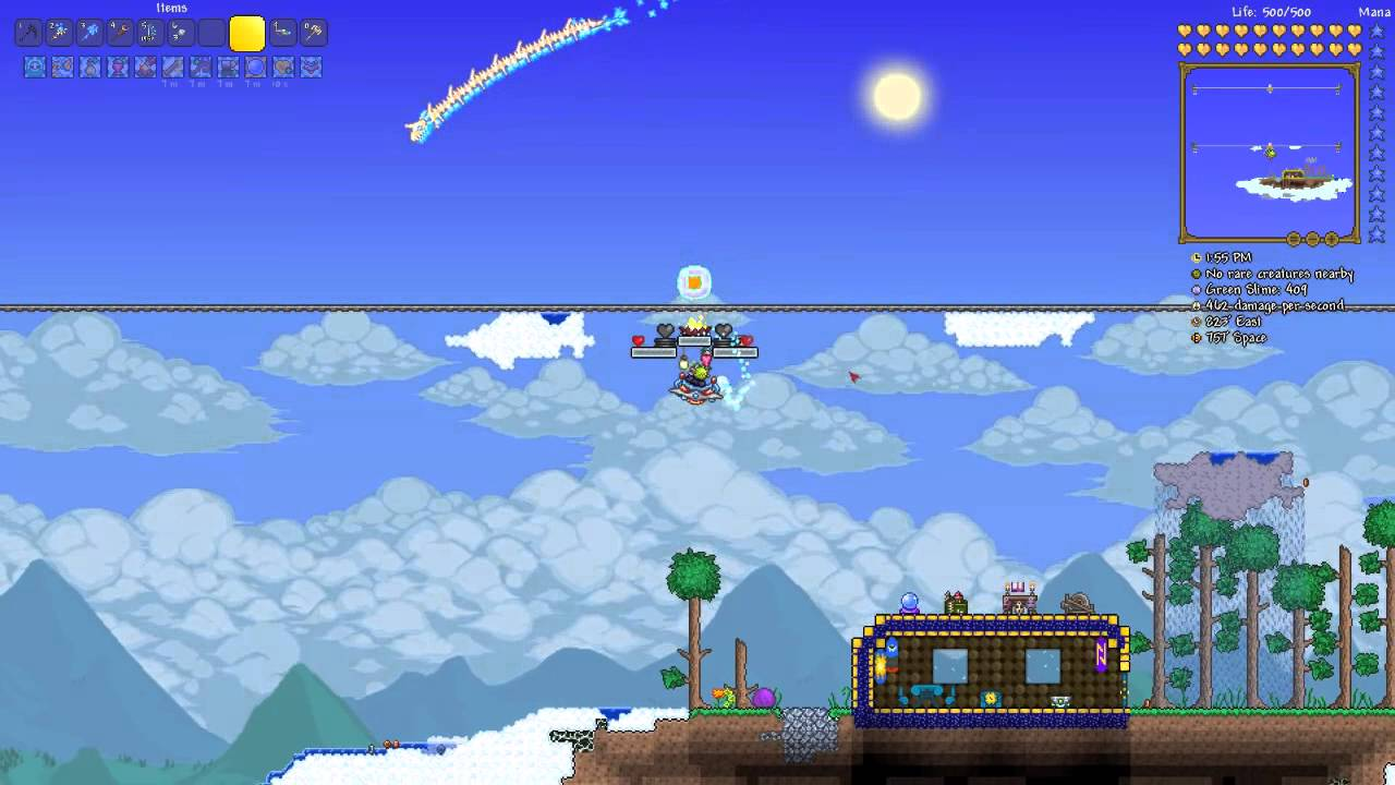 how to make rails terraria