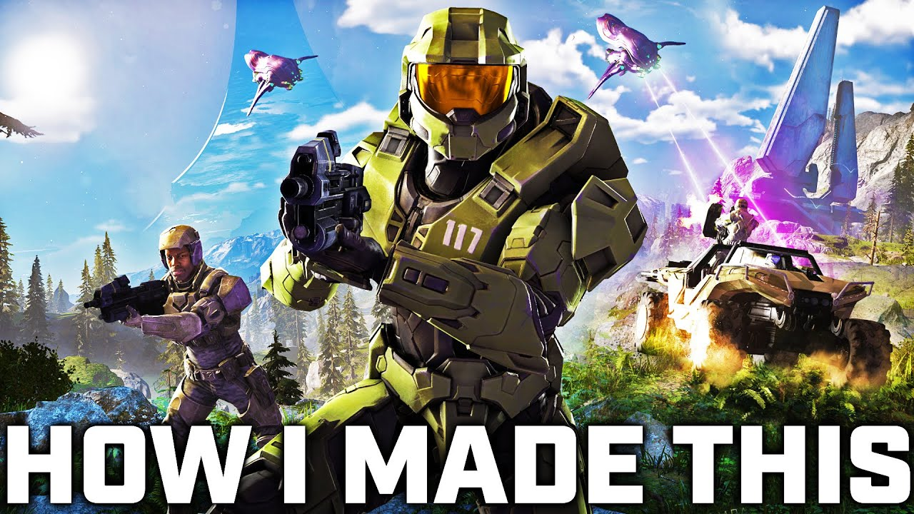 I put Halo Infinite Master Chief in ICONIC Halo cover arts 🤯