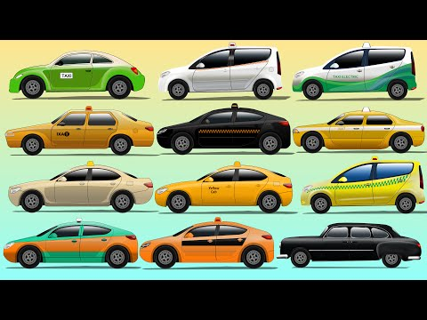 Street Taxi | Daily Vehicles | Taxi's Around The World | Street Vehicles