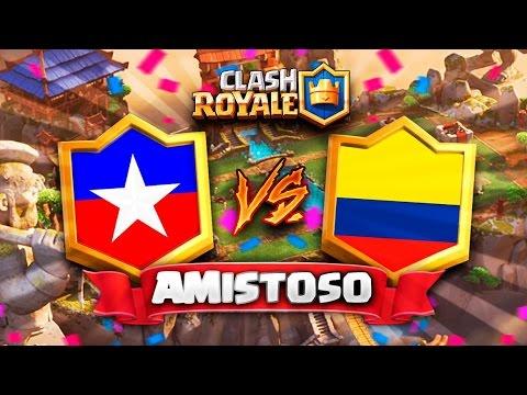 COLOMBIA vs CHILE - LUCHA DE TITANES !// Clash Royale Amistoso Preparacion CR Worlds