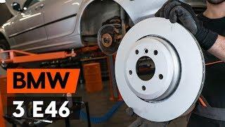 aizmugurē un priekšā Bremžu diski uzstādīšana BMW 3 Touring (E46): bezmaksas video