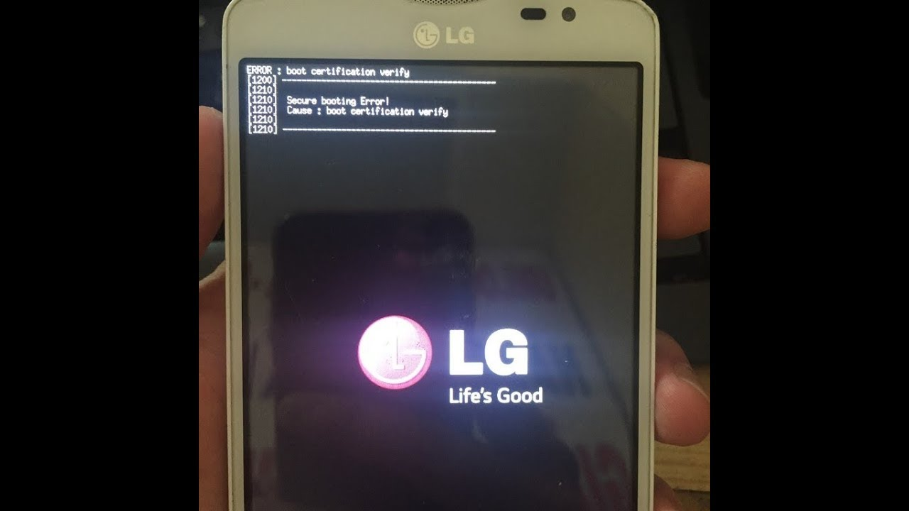 LG D295 boot certification verify error