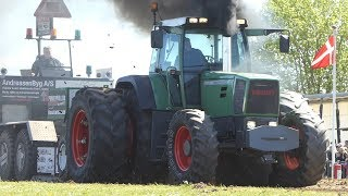 Fendt Favorit 926 Struggles Hard in The Pull Off at Sdr. Vissing Power Pull   Tractor Pulling DK