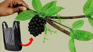 Best out of Waste Idea || Handmade Grapes Decoration Using Plastic Bag || DIY Room Decor Idea