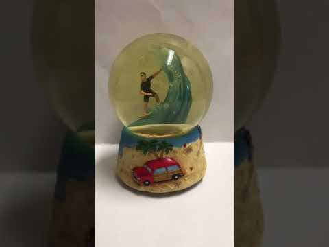 San Francisco Music Box Water Globe Surfer