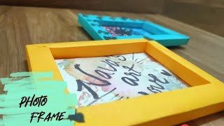 Photo frame || easy way to make photo frame from A4 sheet paper || paper photo frame
