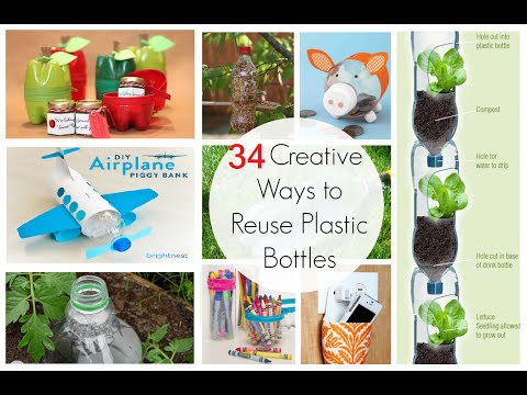 34 creative ways to reuse waste plastic bottles youtube for Useful things from waste bottles