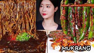 고추짜장면 고추김치깐풍기 짜장밥 먹방 | SPICY B…