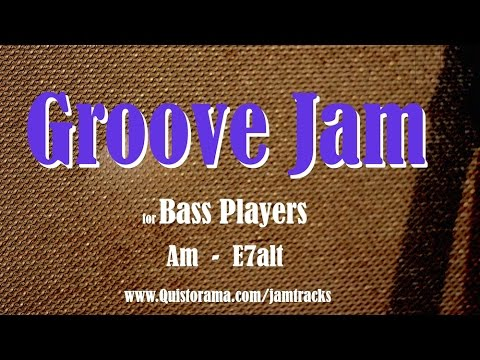 Download Youtube: Groove Bass Backing Track (Am)