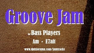 groove bass backing track am
