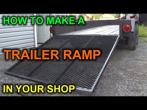 How to Build a DIY Trailer Ramp for under $50 bucks