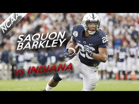 Saquon Barkley Highlights vs Indiana // 26 Touches, 123 Yards, 2 TDs // 9.30.17