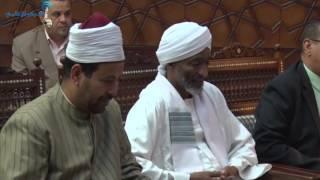 بالفيديو| شيخ الأزهر يلتقي رئيس جامعة