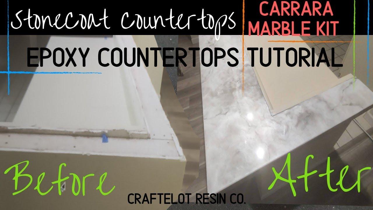 StoneCoat Countertops Carrara Marble Kit- Epoxy Countertops Tutorial