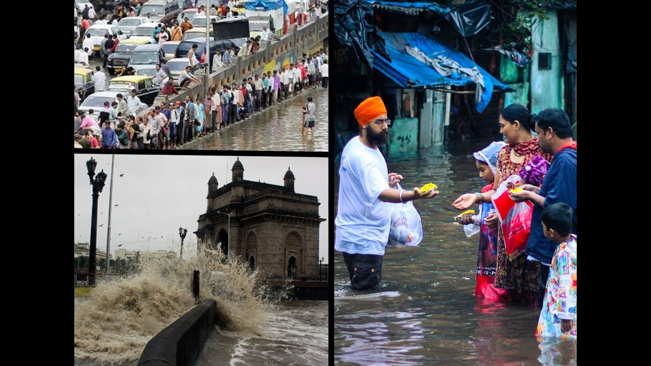 Khalsa Aid in Mumbai | While Flood | 19 June 2015 ...