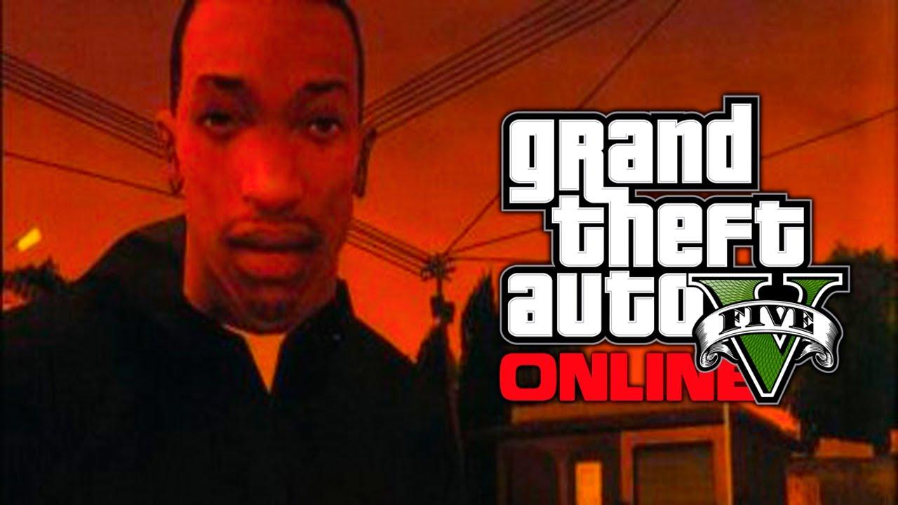 Gta  Online Will Carl Cj Johnson Return As A Dlc Character Gta V Youtube
