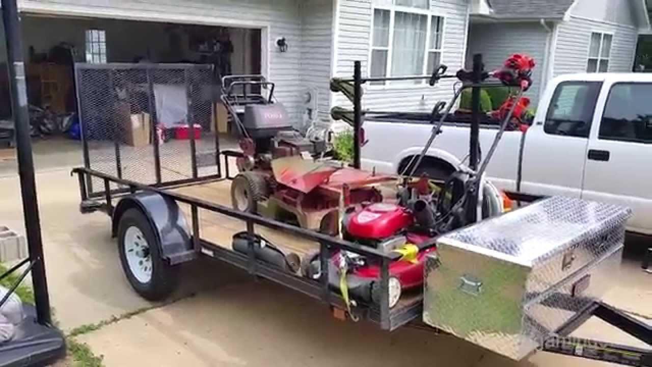 Lawn Service Trailer Setup Youtube