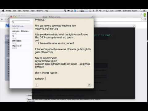 Installing OpenCV with Python in Mac OS X