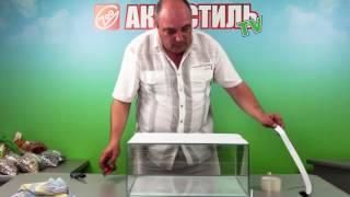 Как приклеить фон на аквариум. Видео инструкция. Оформление.