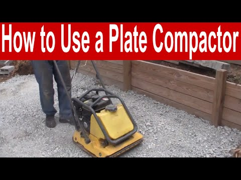How To Use A Plate Compactor