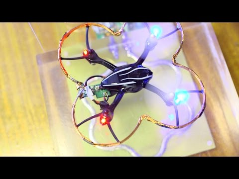 Wirelessly charging a drone in flight - BBC Click