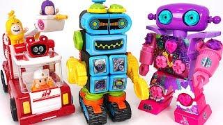 Minions broke the Velcro Robot~ Baby Shark, Pinkfong! Repair the robot! #PinkyPopTOY
