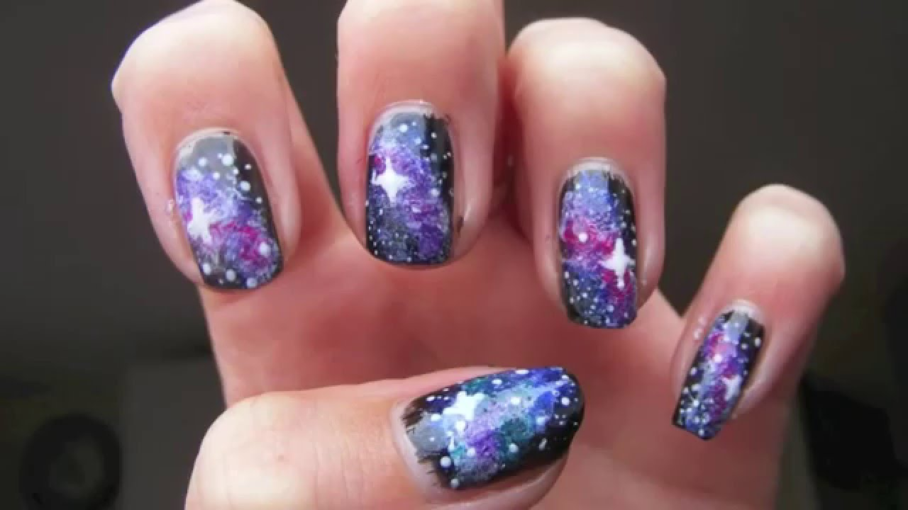 comment faire les ongles galaxy youtube