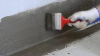 Нанесение гидроизоляционной смеси ANSERGLOB WSR 56