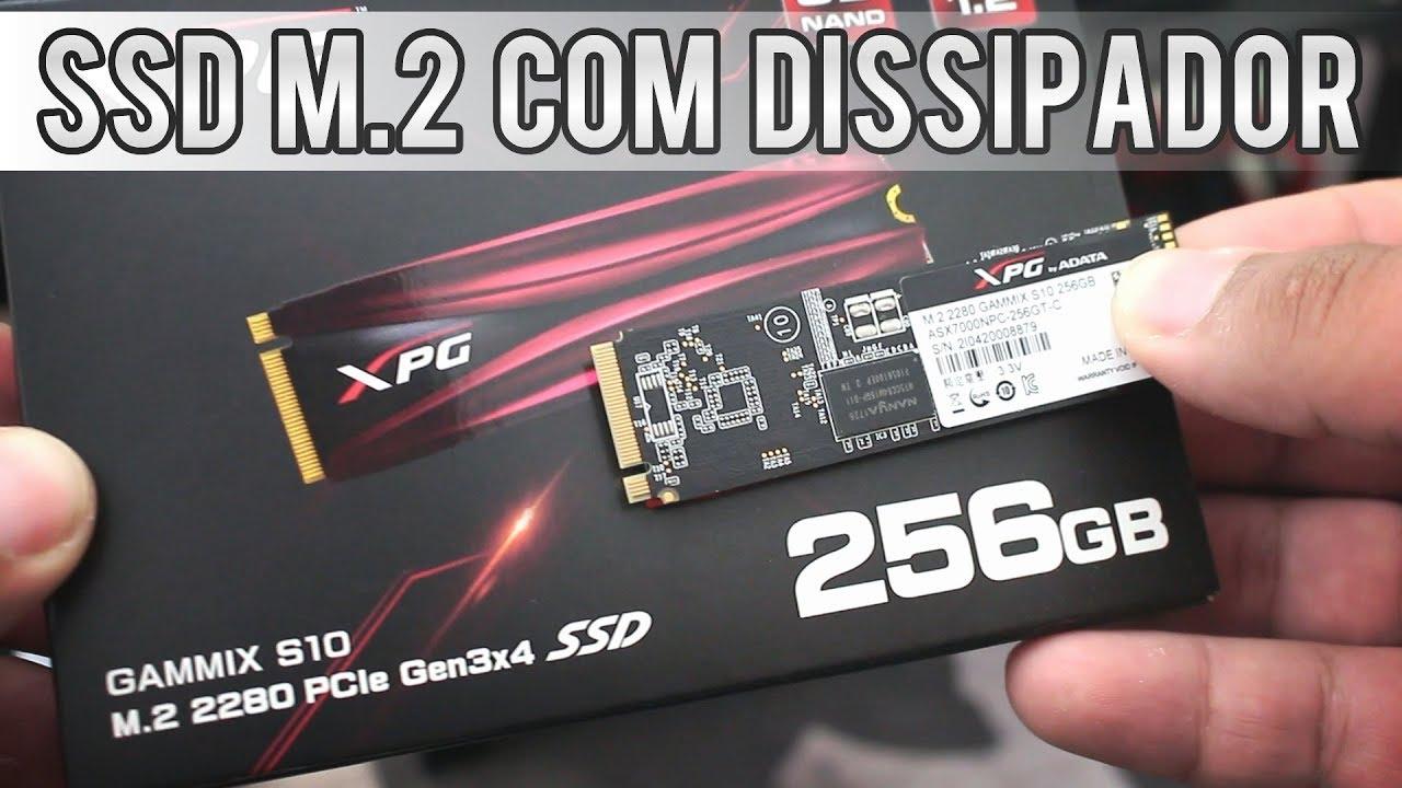 Review SSD Adata/XPG Gammix S10 256GB M 2 NVMe (com dissipador incluso)