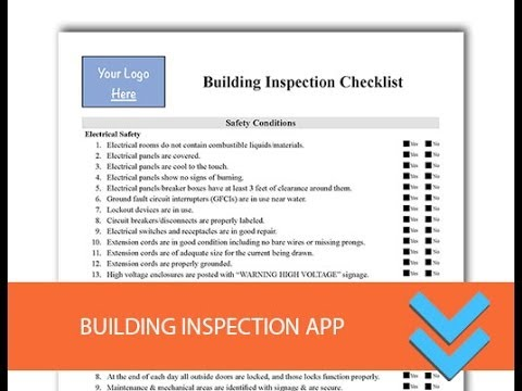 Free Building Inspection Checklist Form - Freedform.com